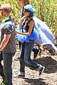 nicole richie rocks blue tutu overalls during hike 08