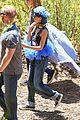 nicole richie rocks blue tutu overalls during hike 08
