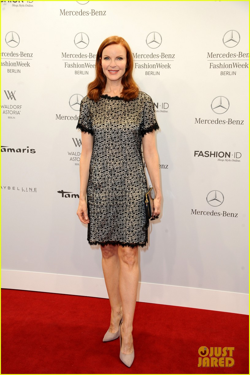 hilary swank marcia cross get dolled up for marc cain 13
