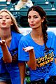 lily aldridge gigi hadid throw out first pitch at baseball game 04