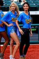 lily aldridge gigi hadid throw out first pitch at baseball game 24