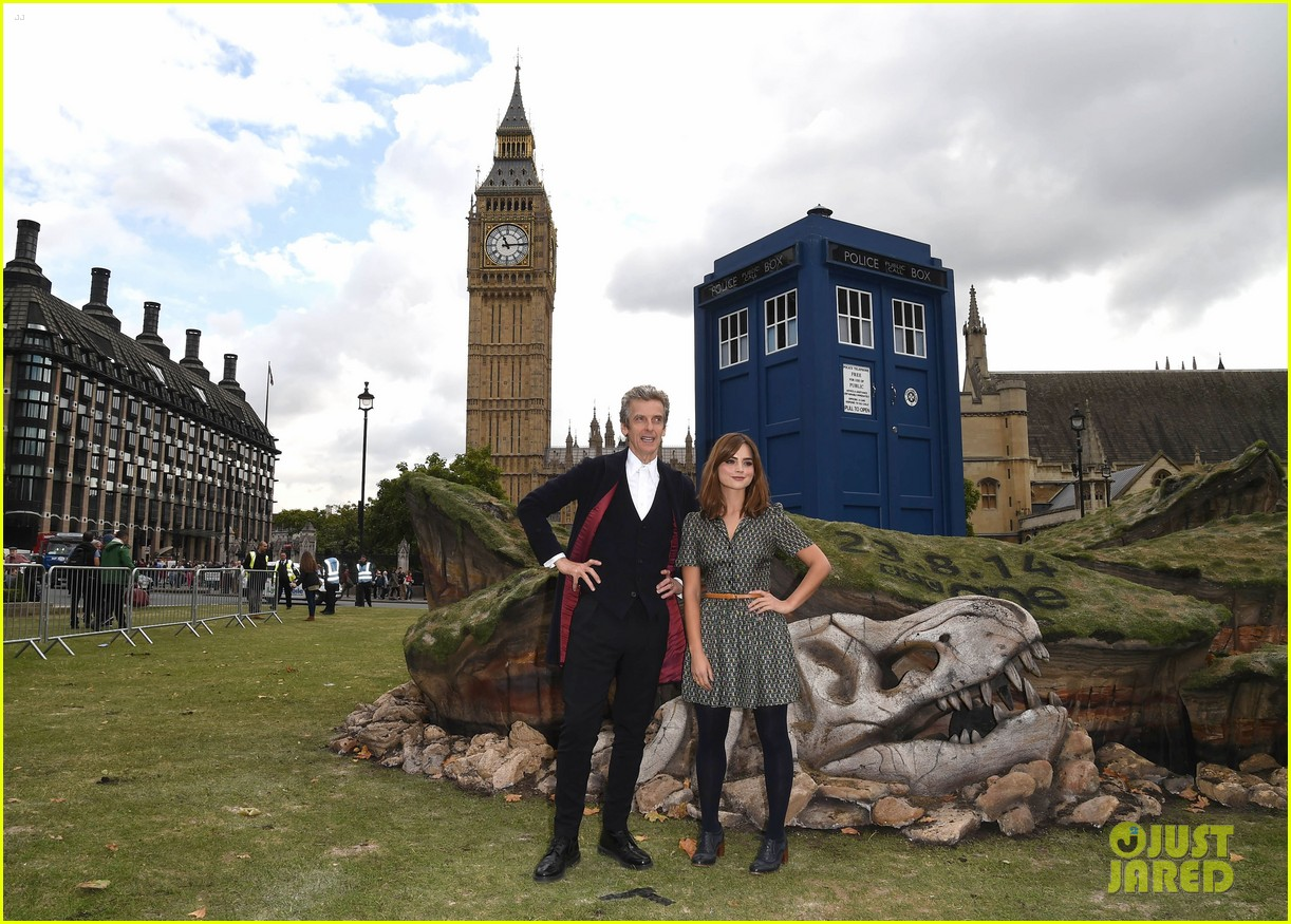 jenna coleman peter capaldi bbc itv photo call london 023180953