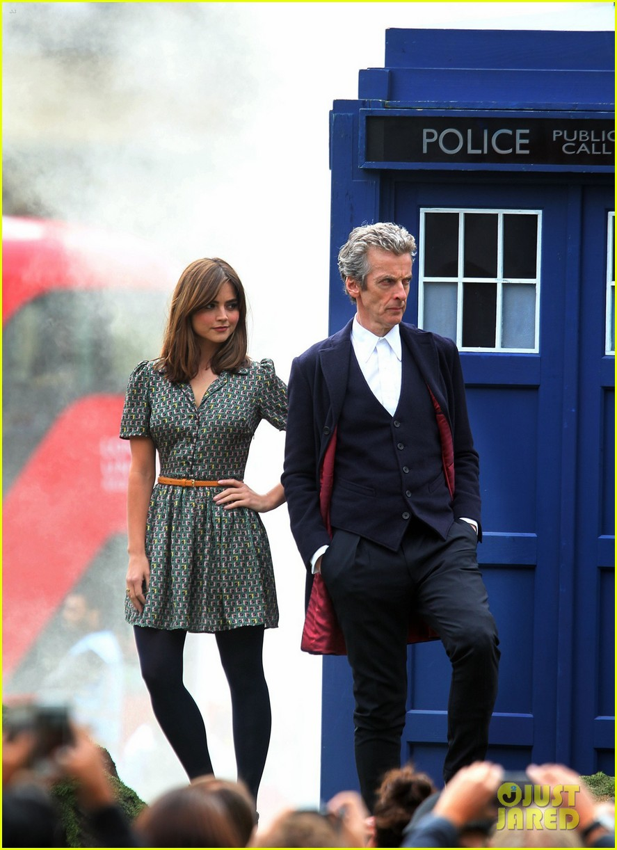 jenna coleman peter capaldi bbc itv photo call london 123180963