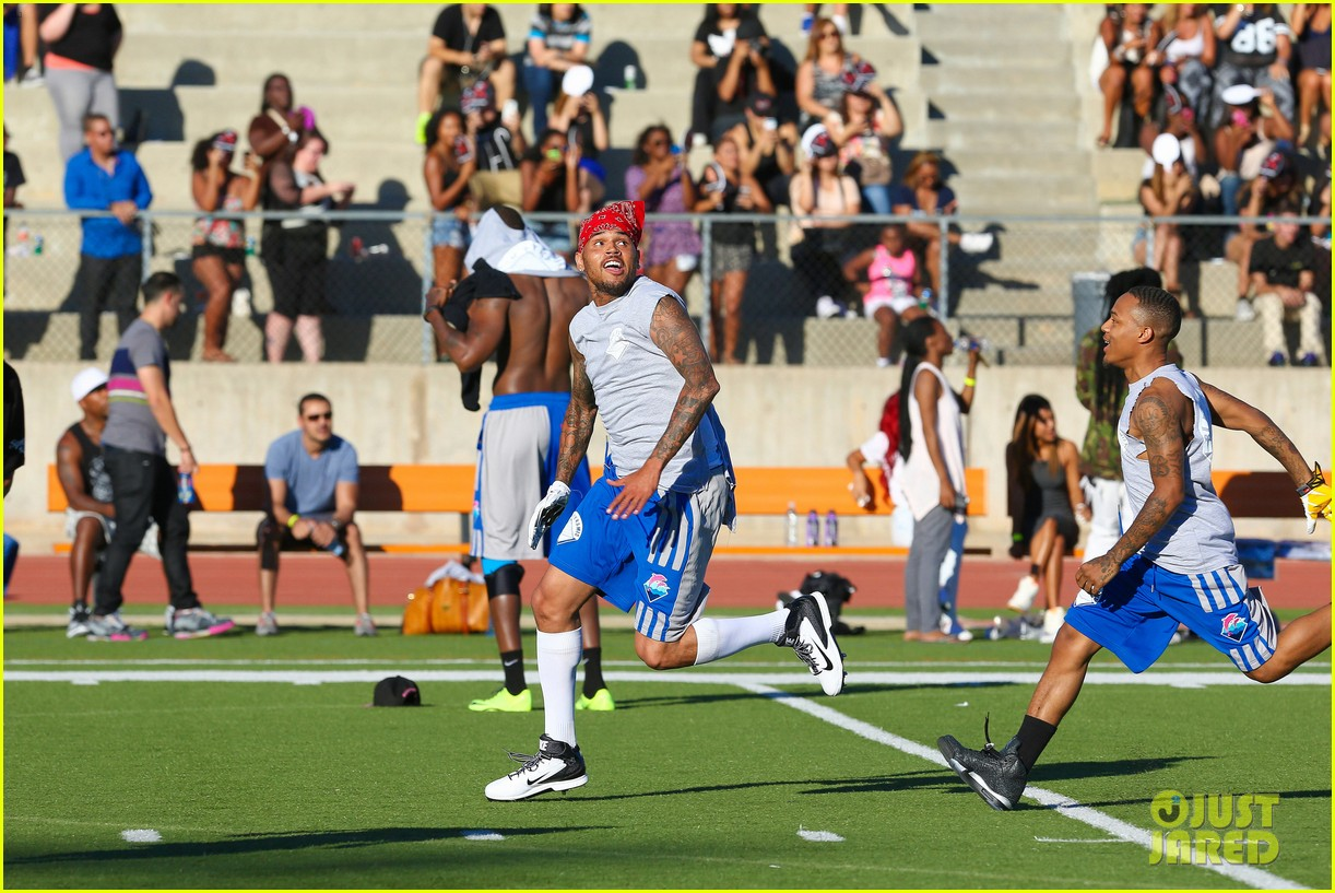 chris brown karrueche tran celebrity flag football game 21
