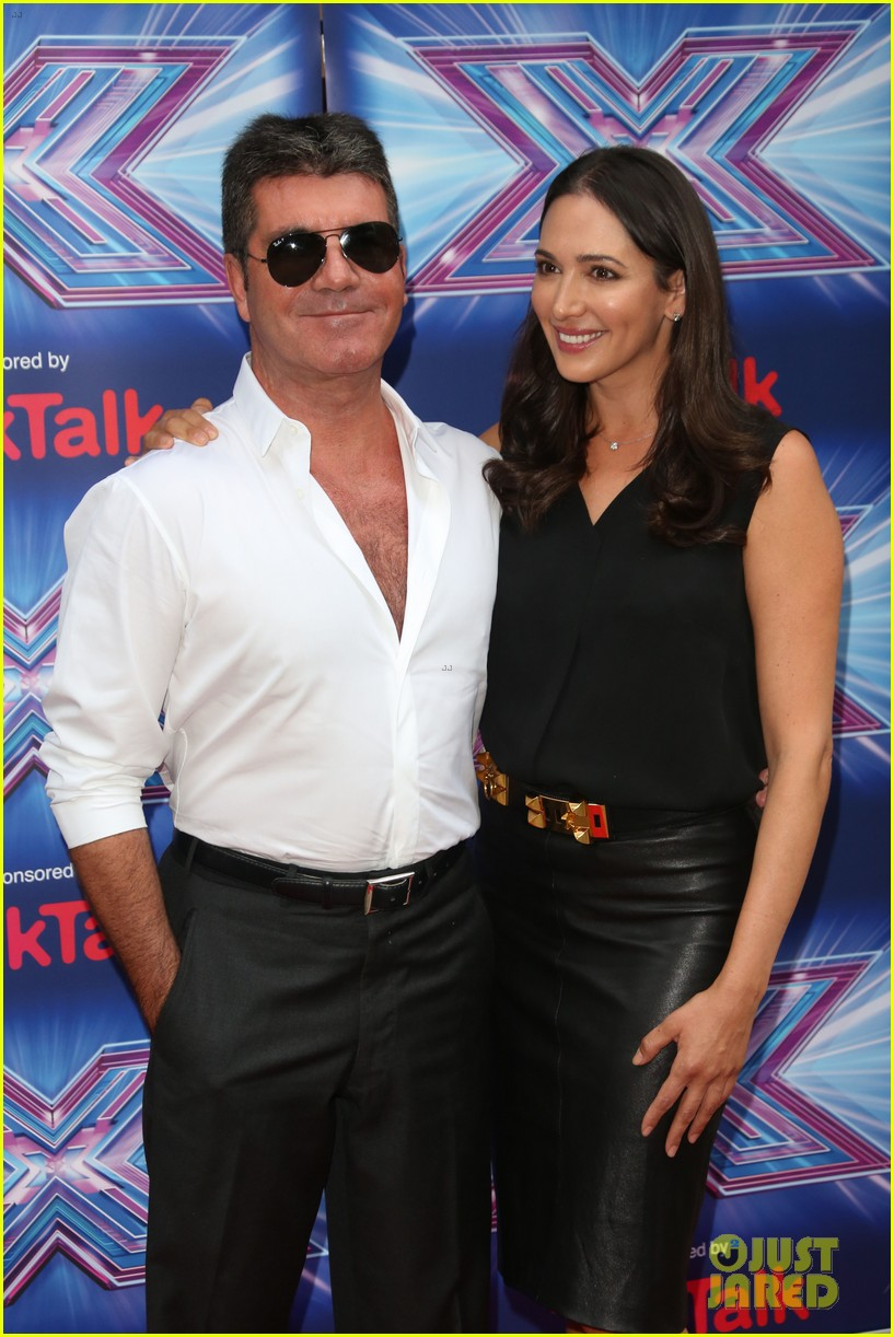 simon cowell girlfriend lauren silverman show some affection at x factor uk 01