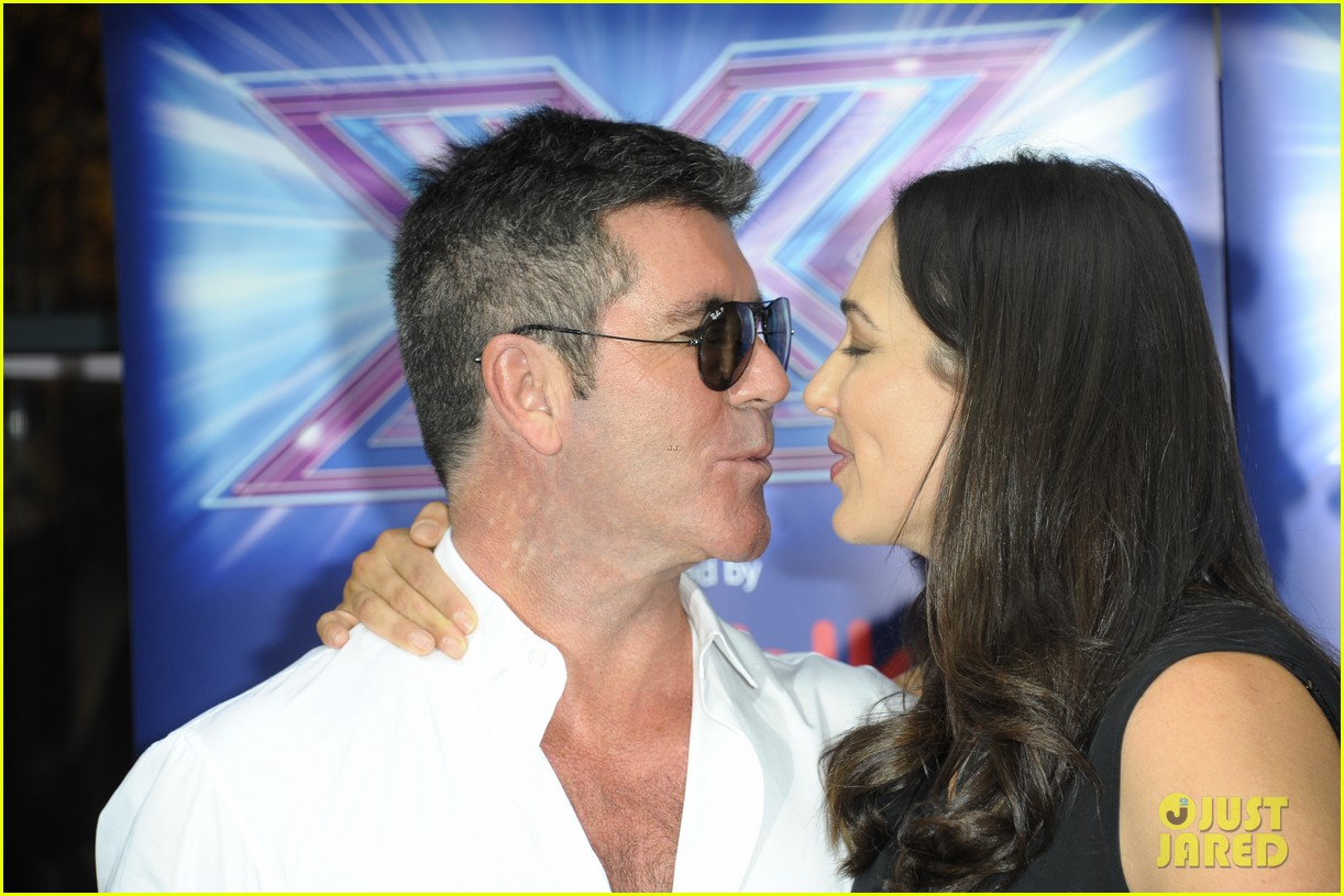 simon cowell girlfriend lauren silverman show some affection at x factor uk 04