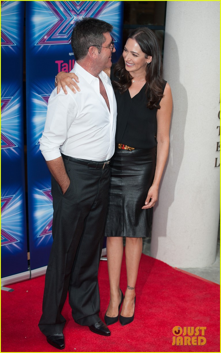 simon cowell girlfriend lauren silverman show some affection at x factor uk 103185332