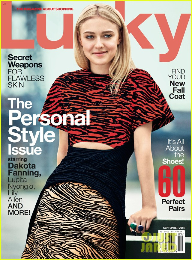 dakota fanning lucky magazine september 2014 cover 03