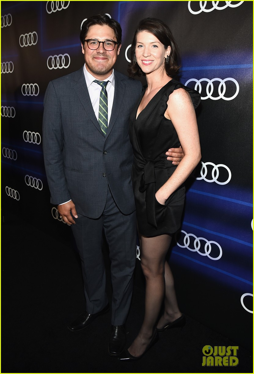 michelle dockery jessica pare audi emmys party 063180753