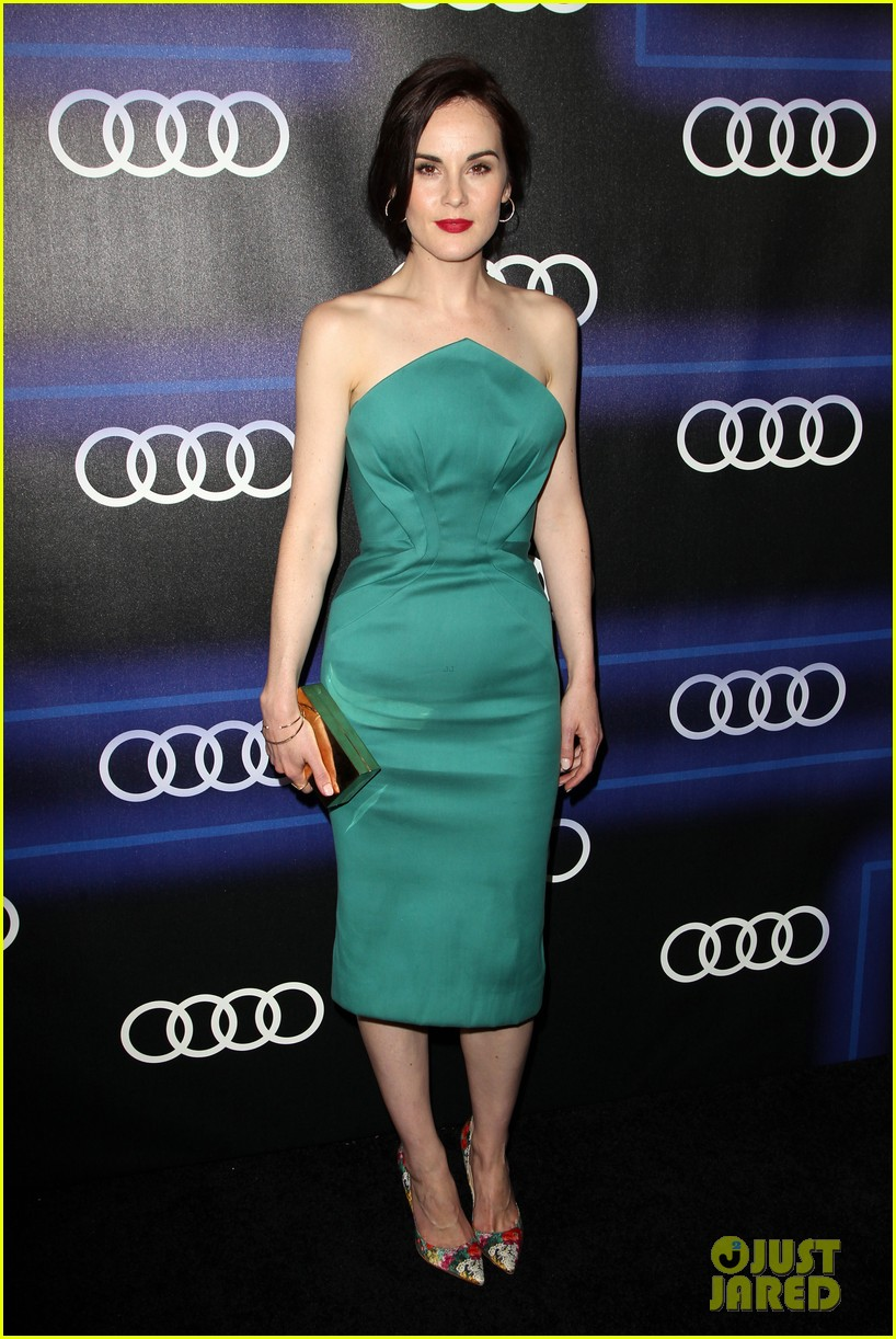 michelle dockery jessica pare audi emmys party 283180775