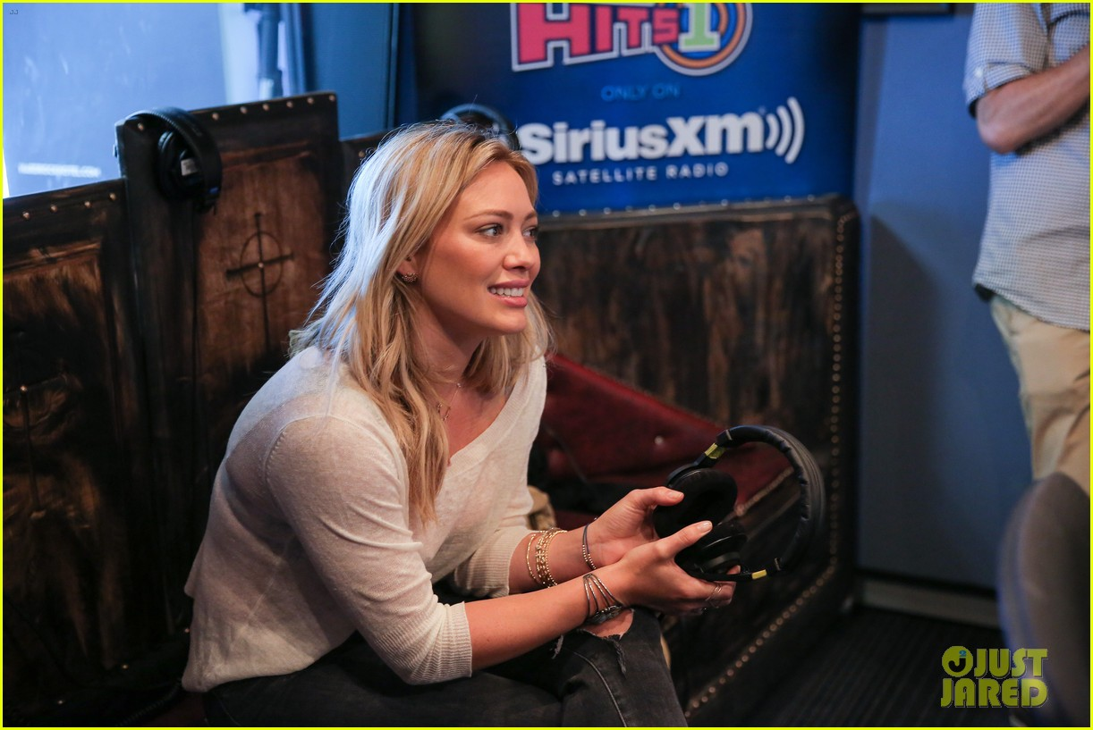 hilary duff promotes new single all about you at siriusxm 18