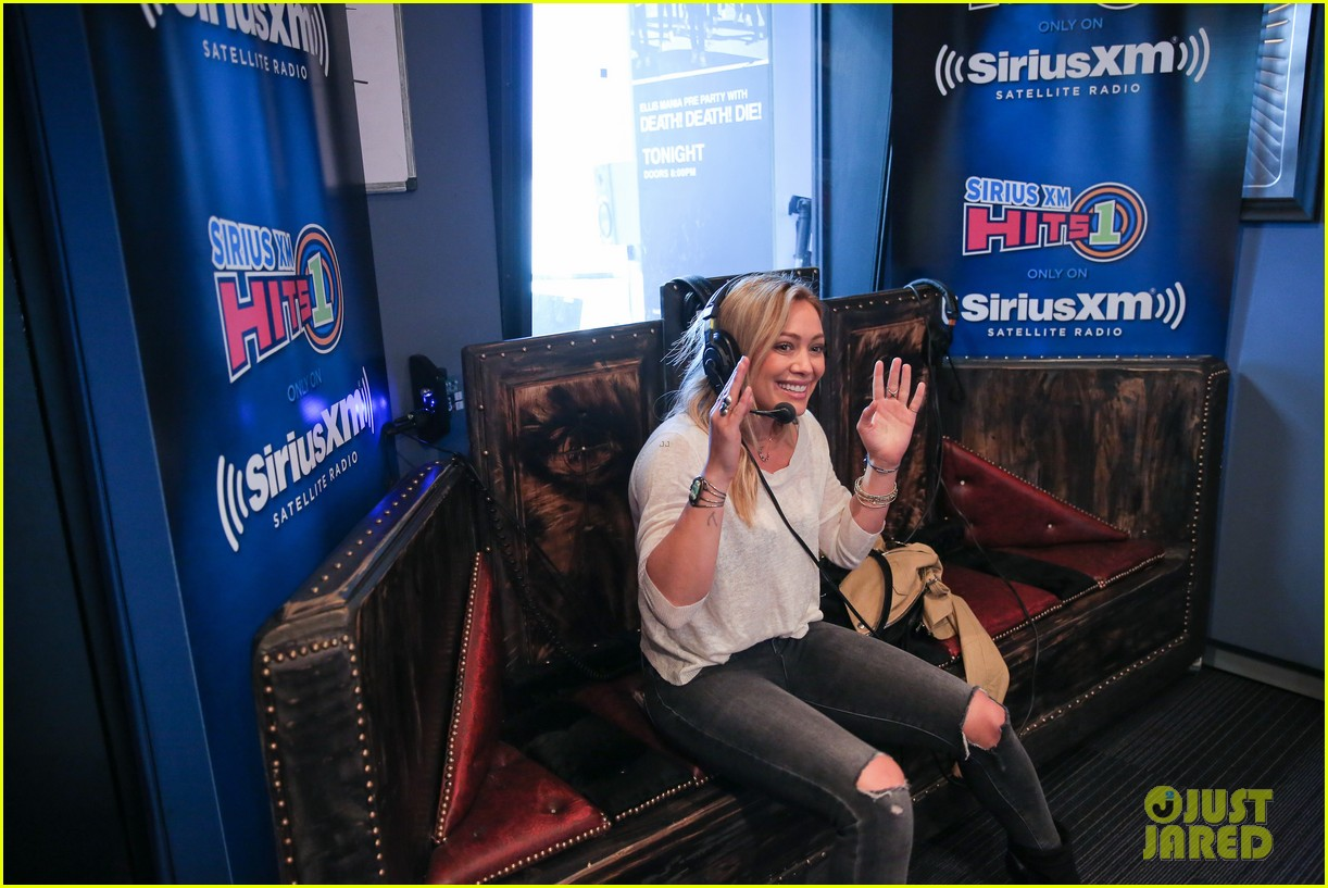hilary duff promotes new single all about you at siriusxm 193185353