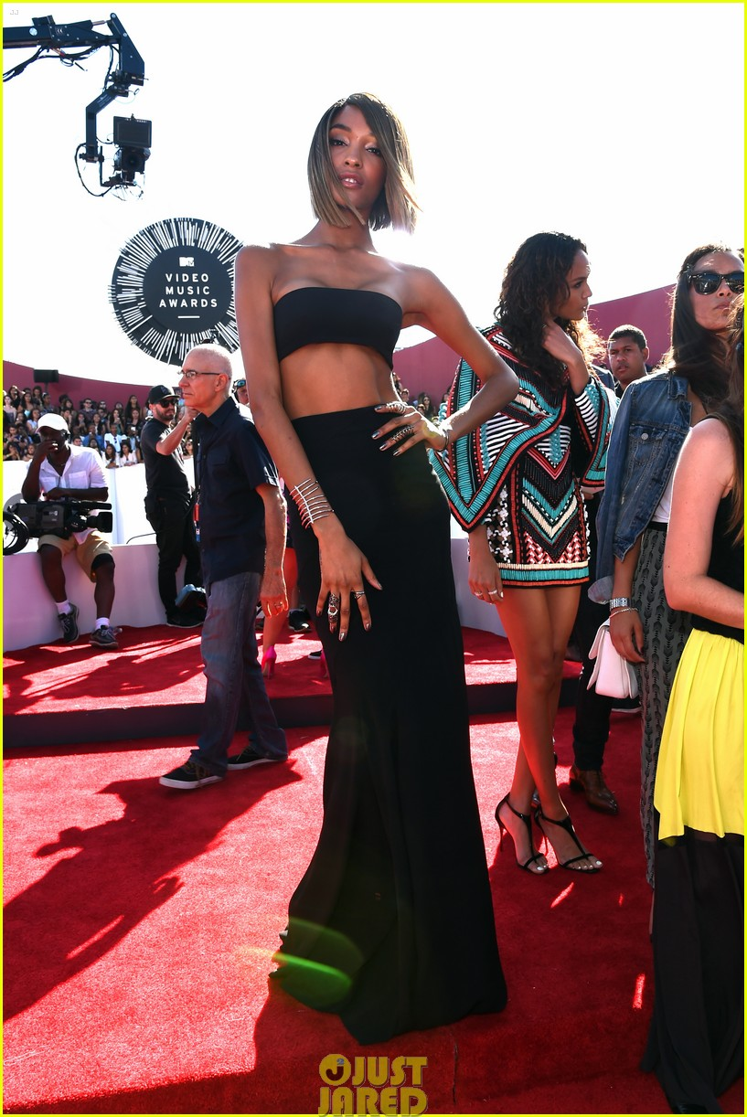 chanel iman jourdan dunn vmas mtv red carpet 07