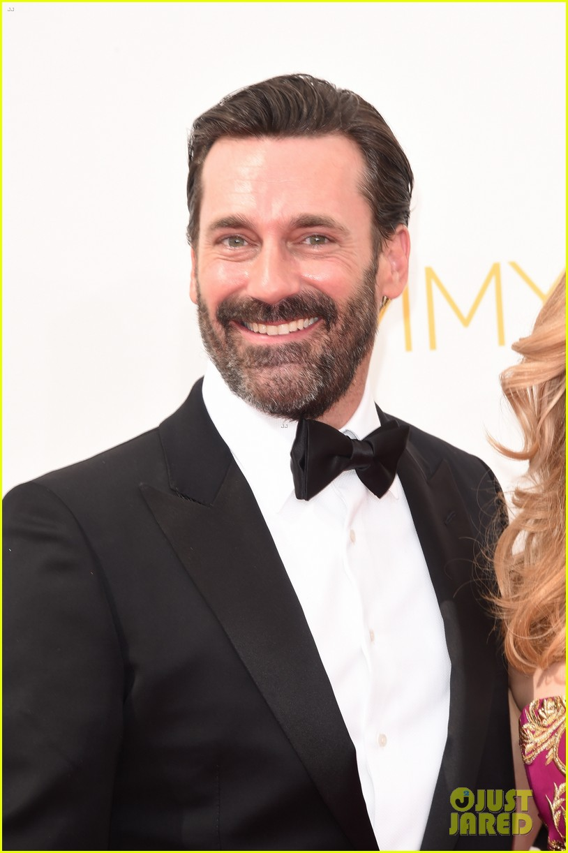 jon hamm jennifer westfeldt loving pair at emmys 2014 023183381