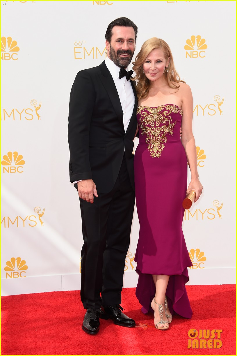 jon hamm jennifer westfeldt loving pair at emmys 2014 05