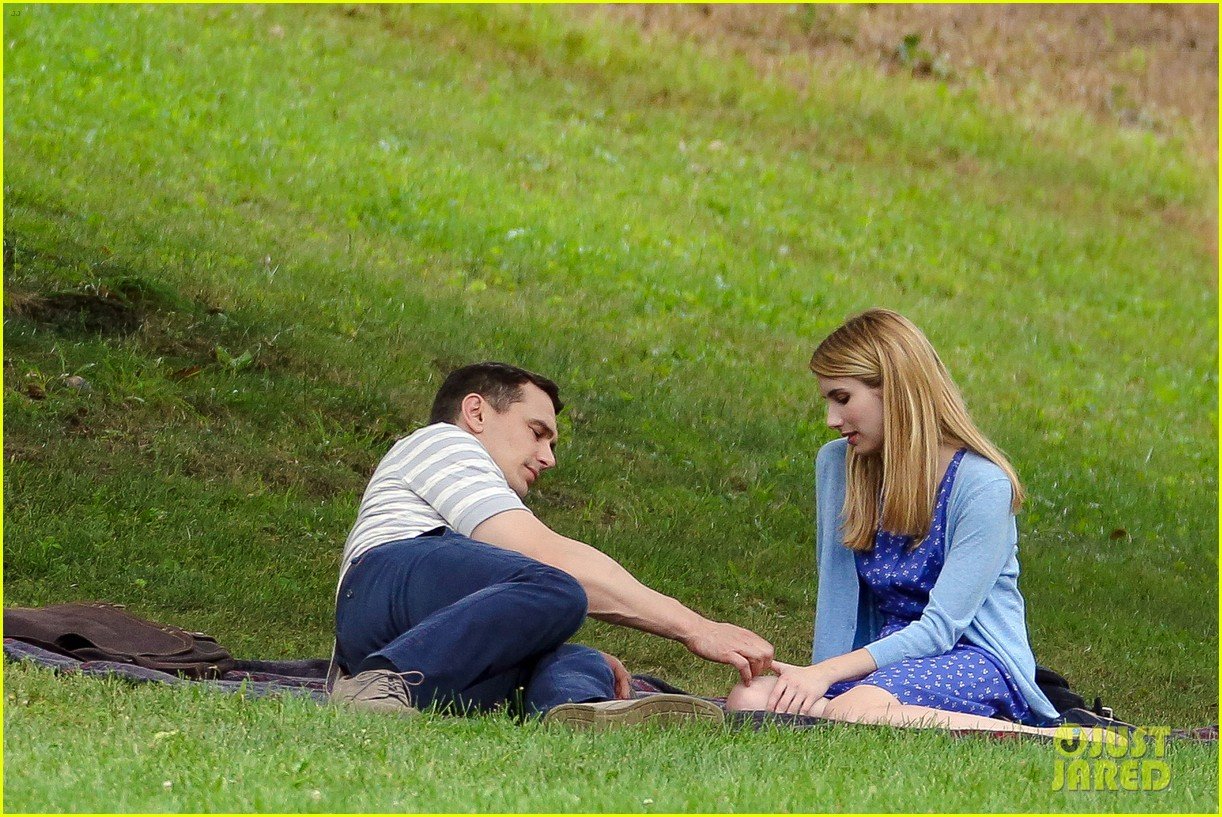 james franco emma roberts kiss park michael filming 223187017