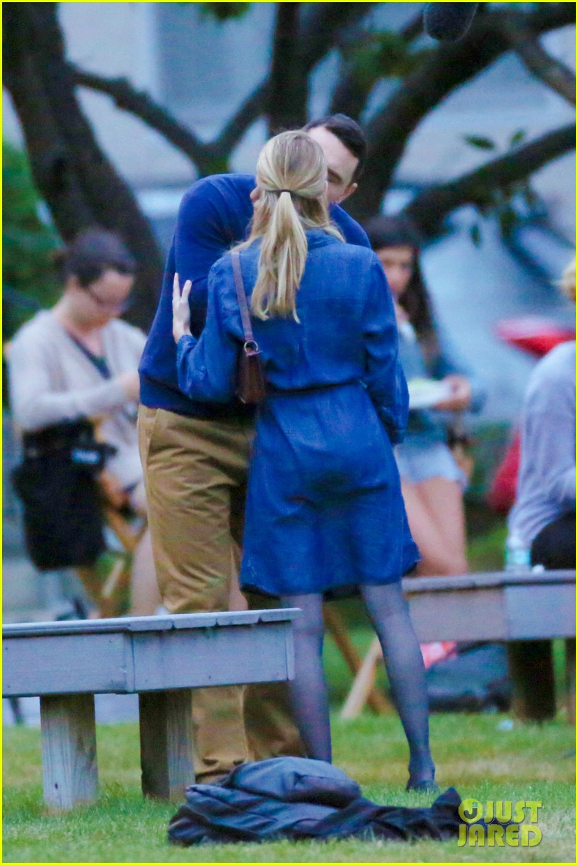 james franco emma roberts kiss park michael filming 26