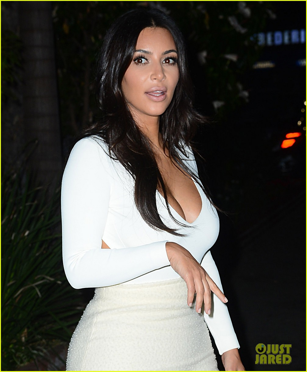 kim kardashian kanye west step out for date night 05