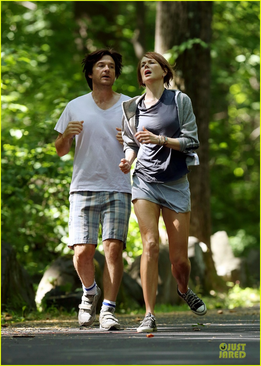 nicole kidman jason bateman hot sweaty during jog 063179232