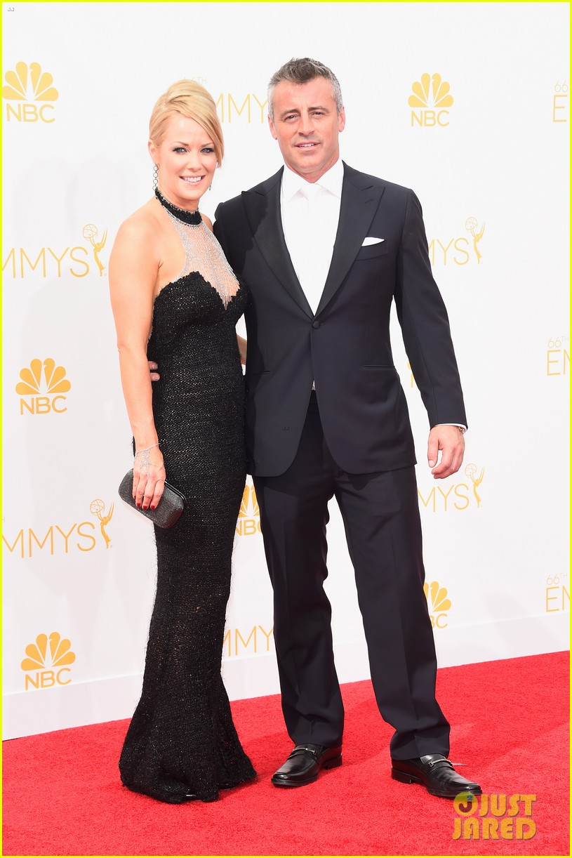 matt leblanc william h macy brings wives to emmys 2014 01