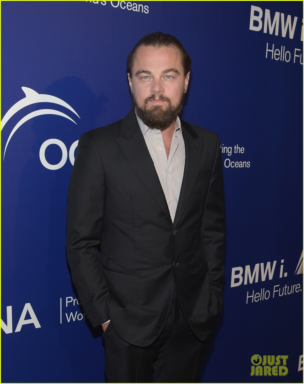 Leonardo Dicaprio Slicks His Hair Back For Oceanas Seachange Summer