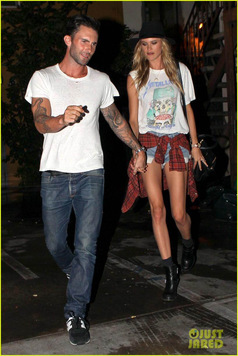 Newlyweds Adam Levine & Behati Prinsloo Hold Hands For Post ...