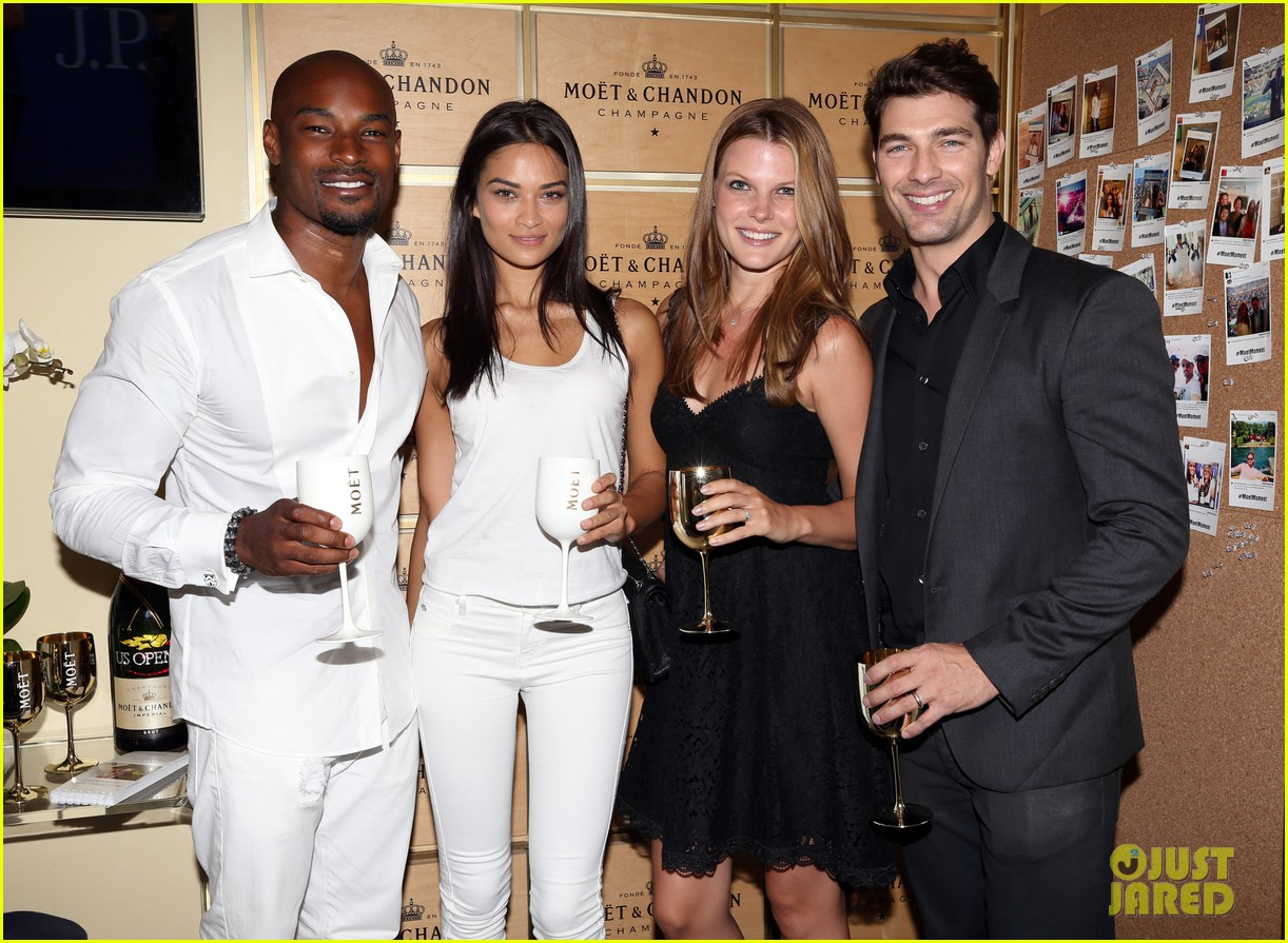model lindsay ellingson tyson beckford enjoy us open 143186109