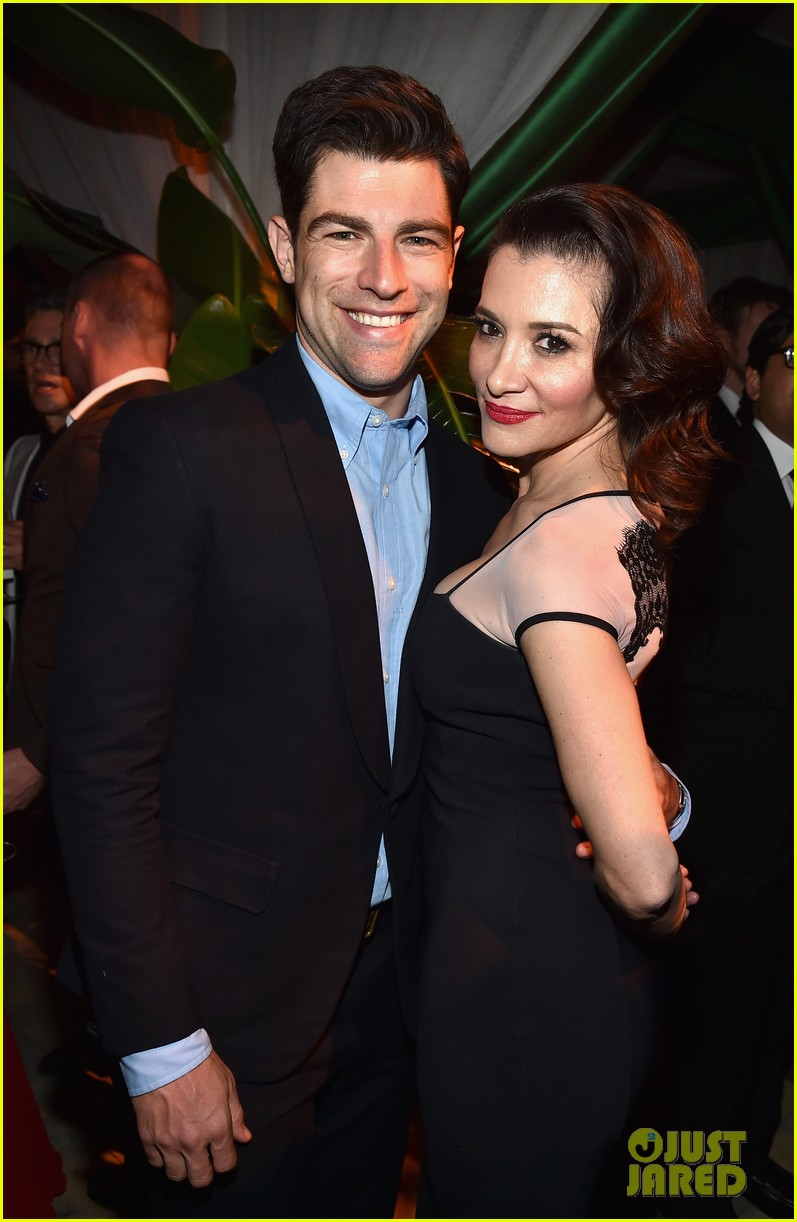 new girls max greenfield brings wife tess sanchez to emmys 2014 after party 06