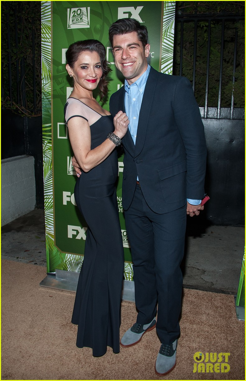 new girls max greenfield brings wife tess sanchez to emmys 2014 after party 08