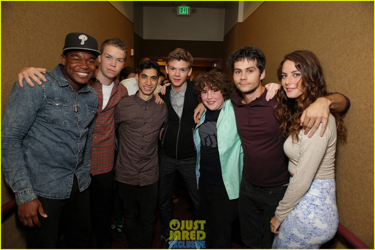 dylan obrien maze runner justjared screening 02