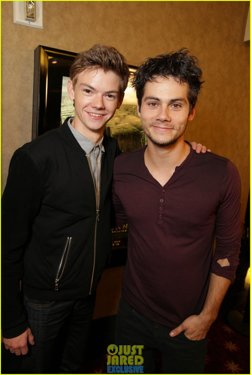 dylan obrien maze runner justjared screening 043182166