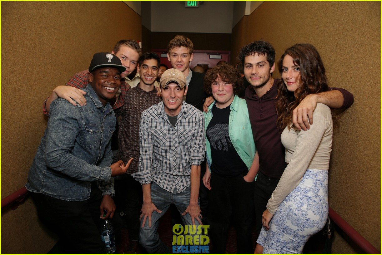 dylan obrien maze runner justjared screening 153182177