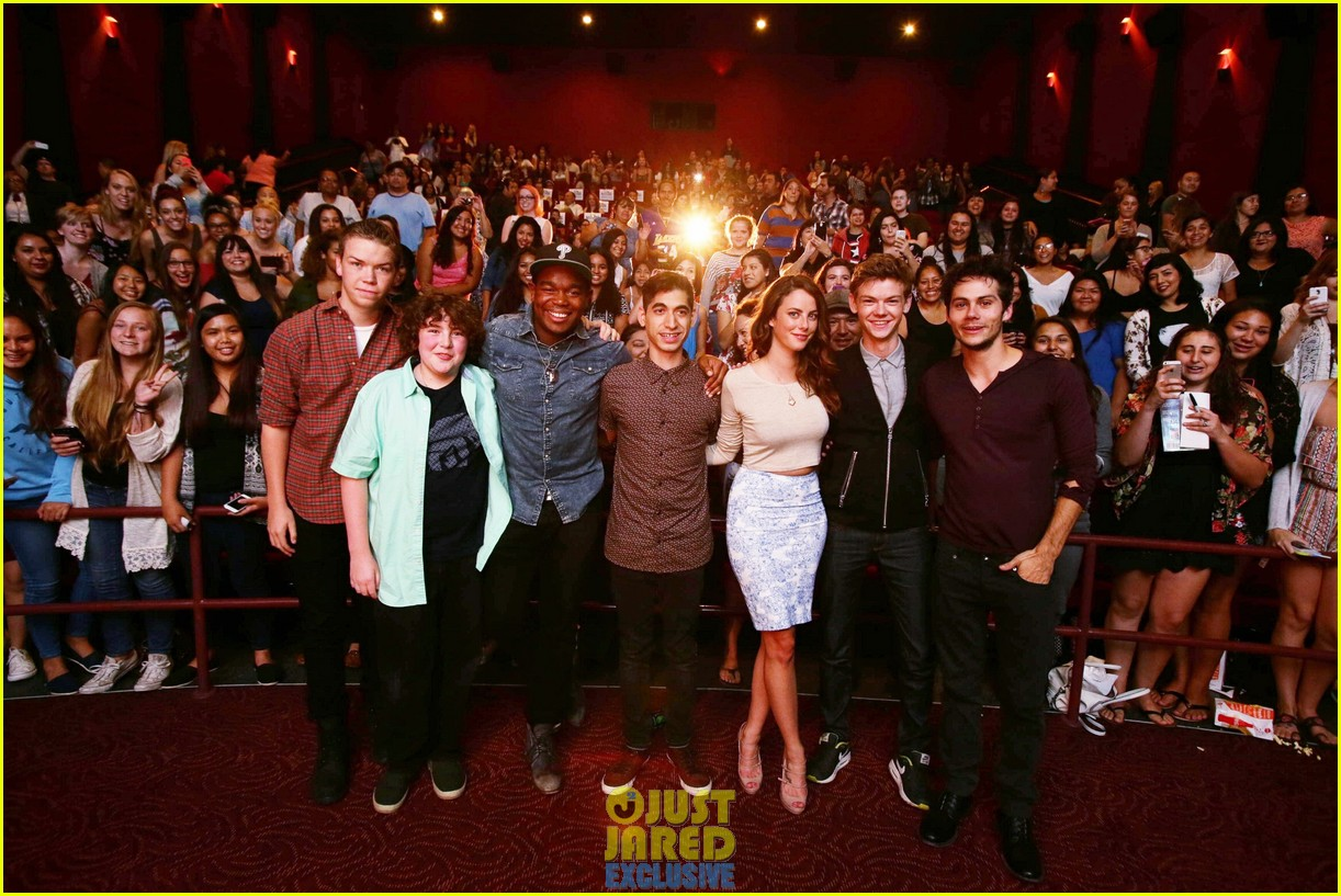 dylan obrien maze runner justjared screening 203182182