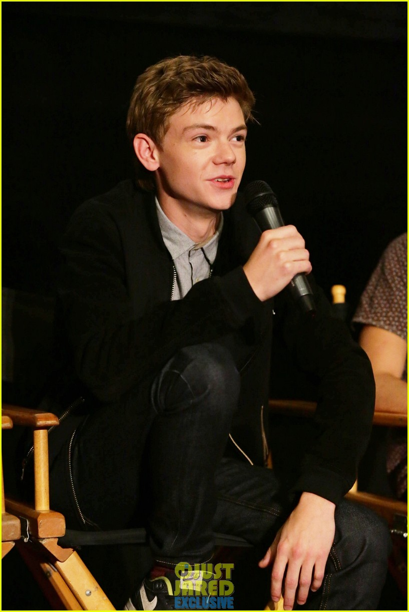 dylan obrien maze runner justjared screening 35