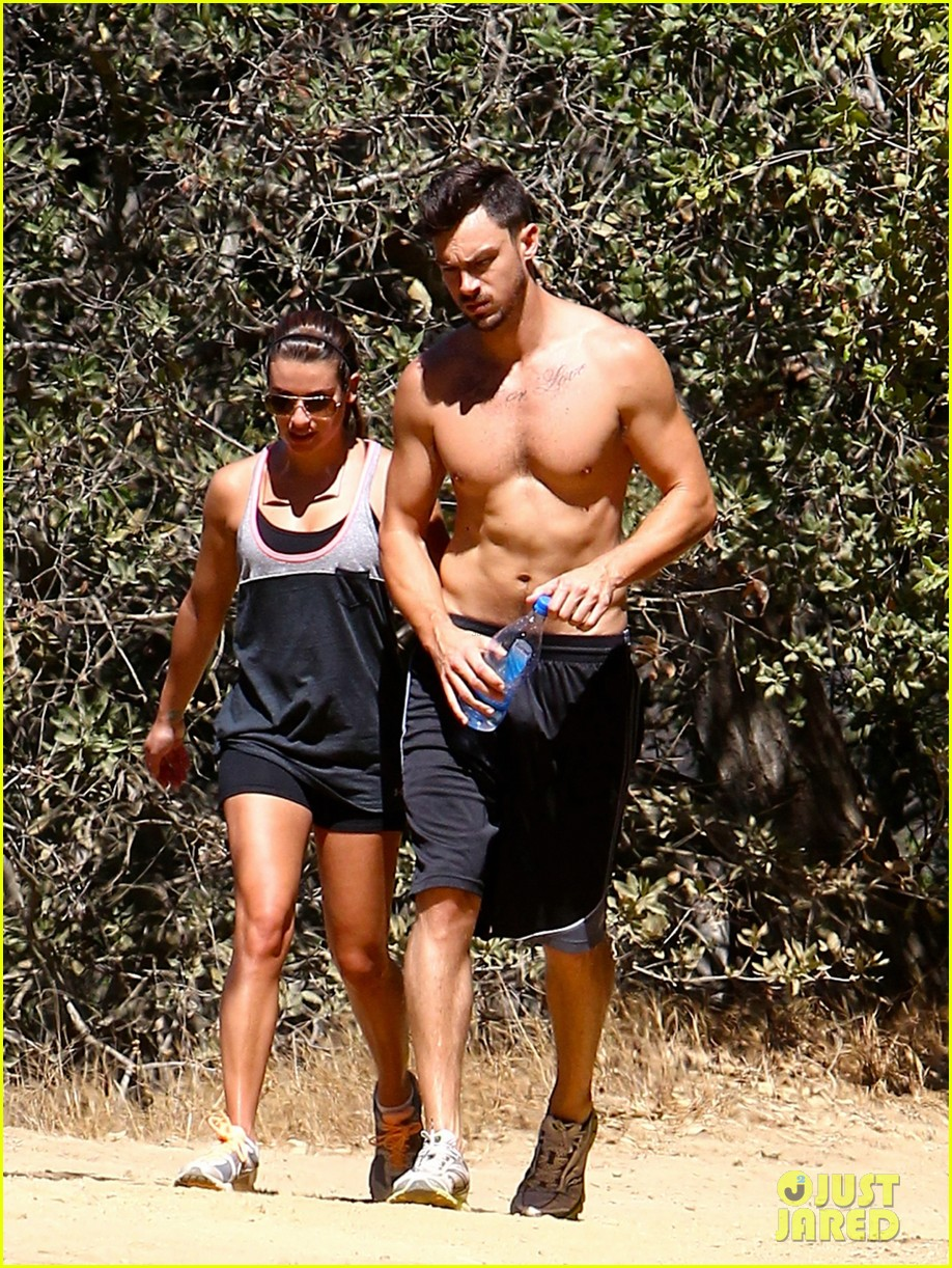 lea michele boyfriend matthew paetz goes shirtless hike 023181825