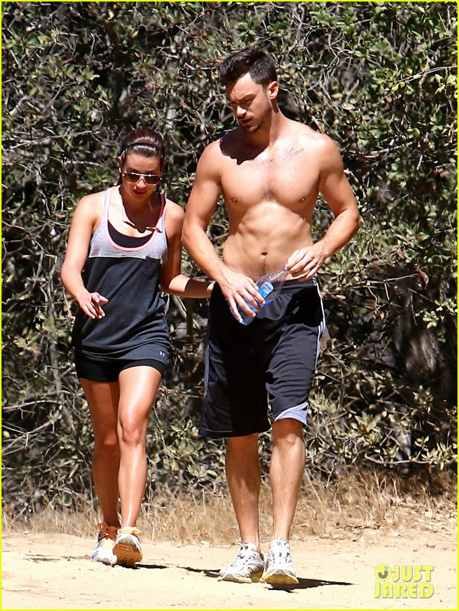 lea michele boyfriend matthew paetz goes shirtless hike 15