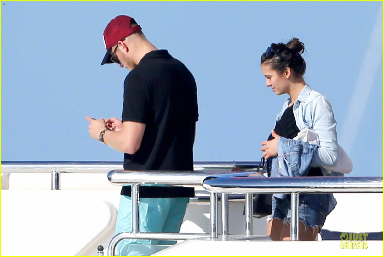 nina dobrev alexander ludwig hang out on yacht 043181237