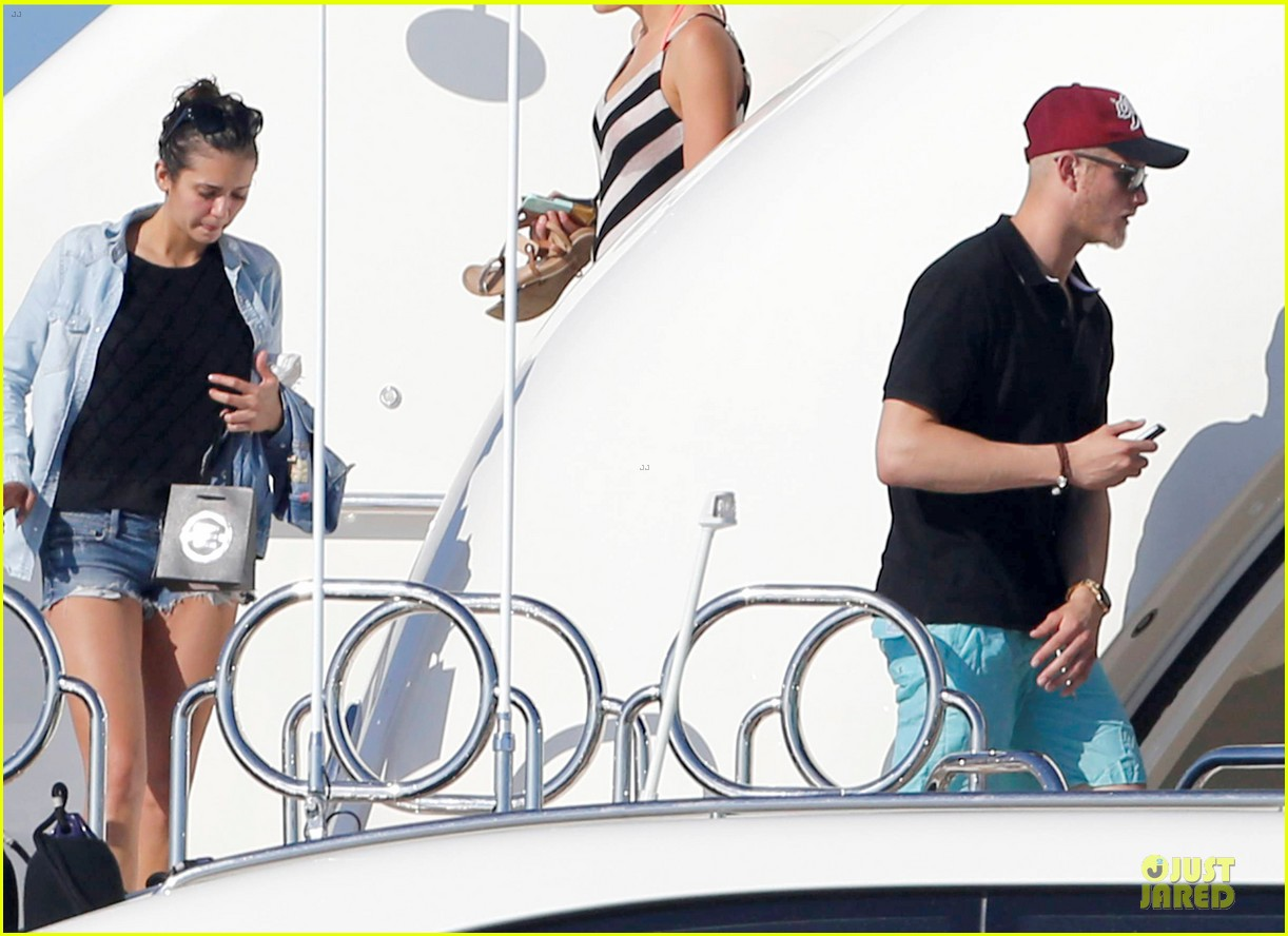 nina dobrev alexander ludwig hang out on yacht 073181240