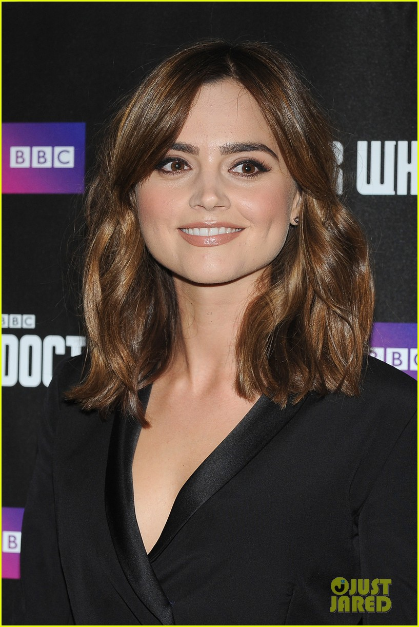 jenna coleman peter capaldi dr who london last premiere 13