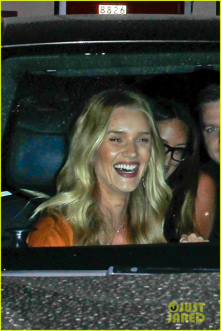 rosie huntington whiteley wears plunging dress to dinner with jason statham 02