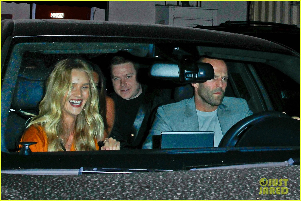 rosie huntington whiteley wears plunging dress to dinner with jason statham 10