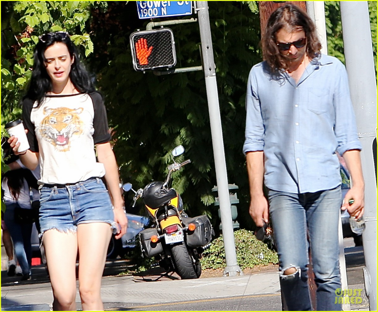 krysten ritter adam granduciel keep distance on stroll 083182814