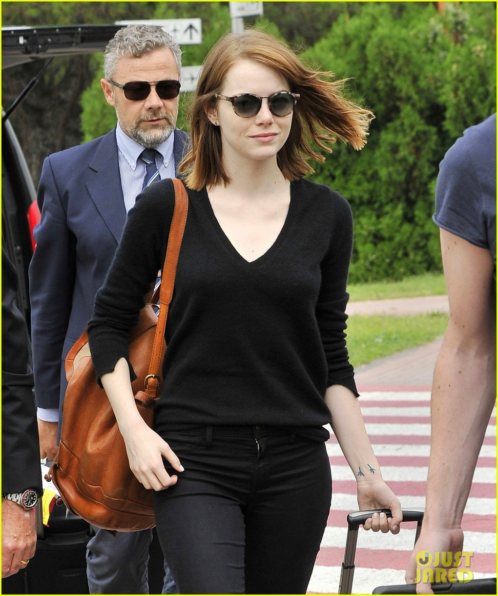 emma stone arrives for venice film festival for birdman opening 04