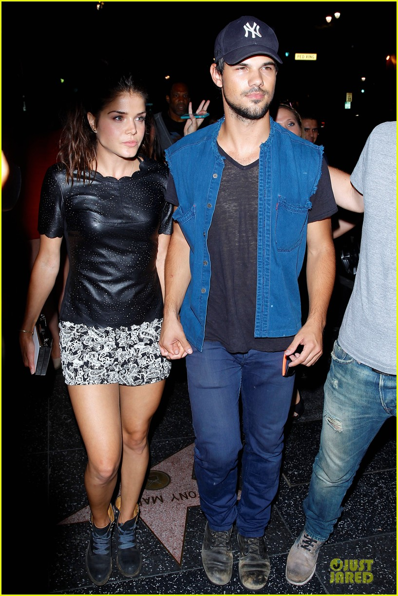 taylor lautner marie avgeropoulos strong hollywood 07