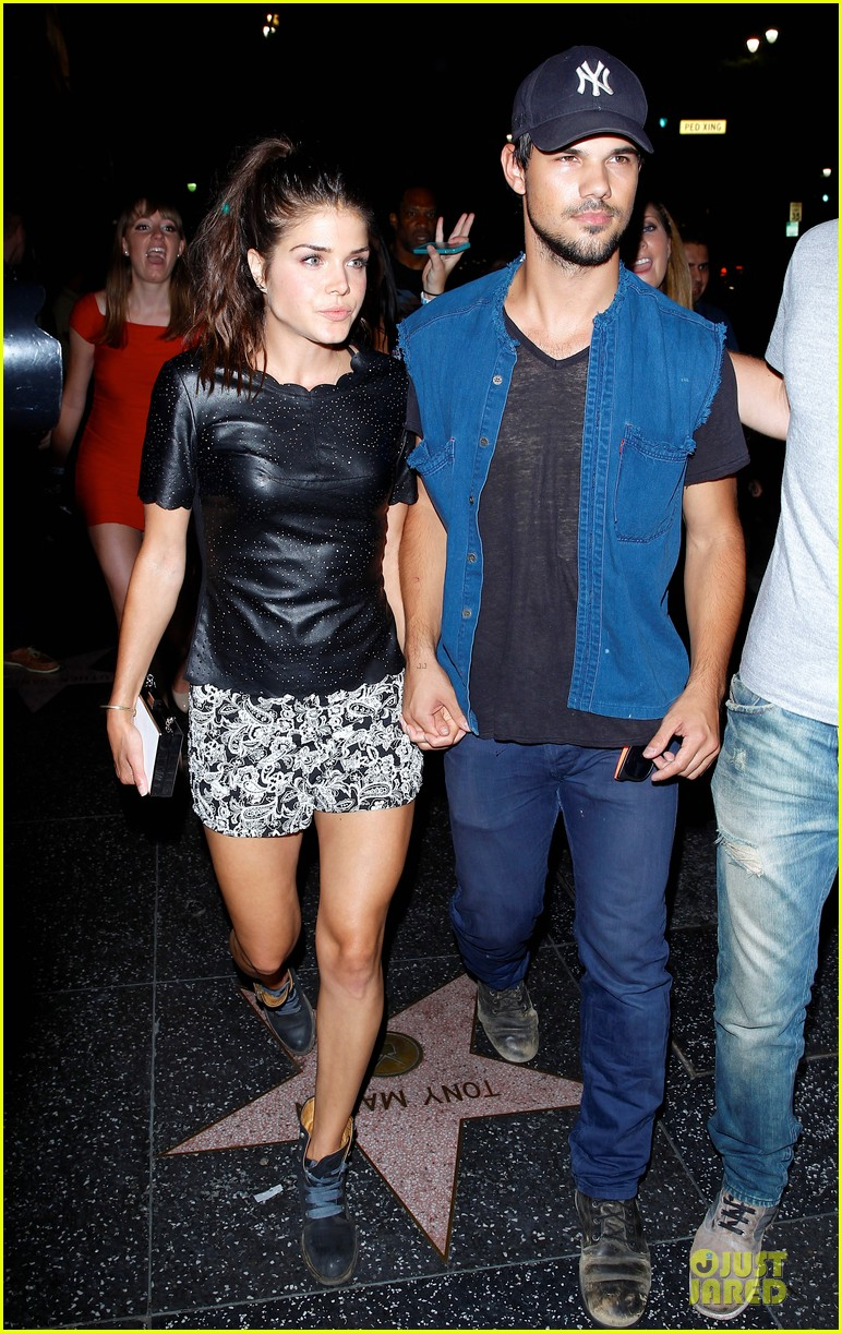 taylor lautner marie avgeropoulos strong hollywood 08