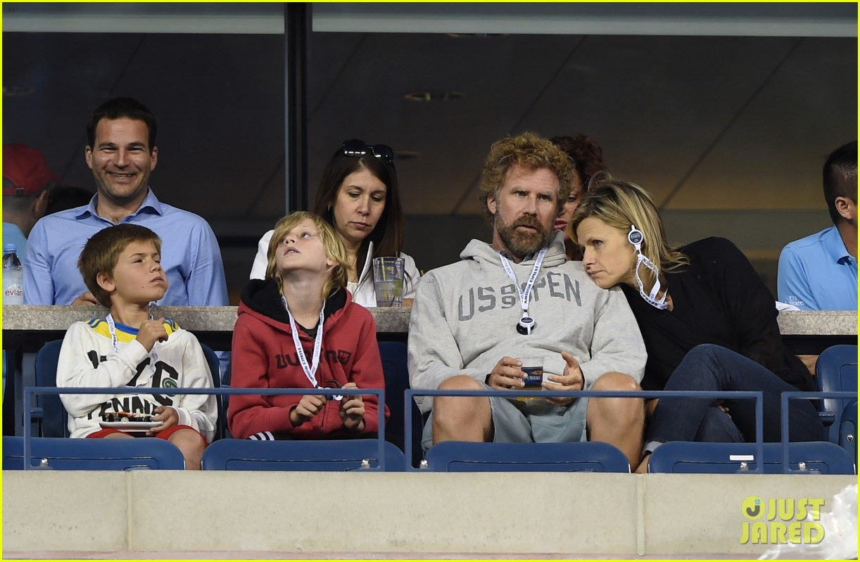 will ferrell busy beard family us open 04