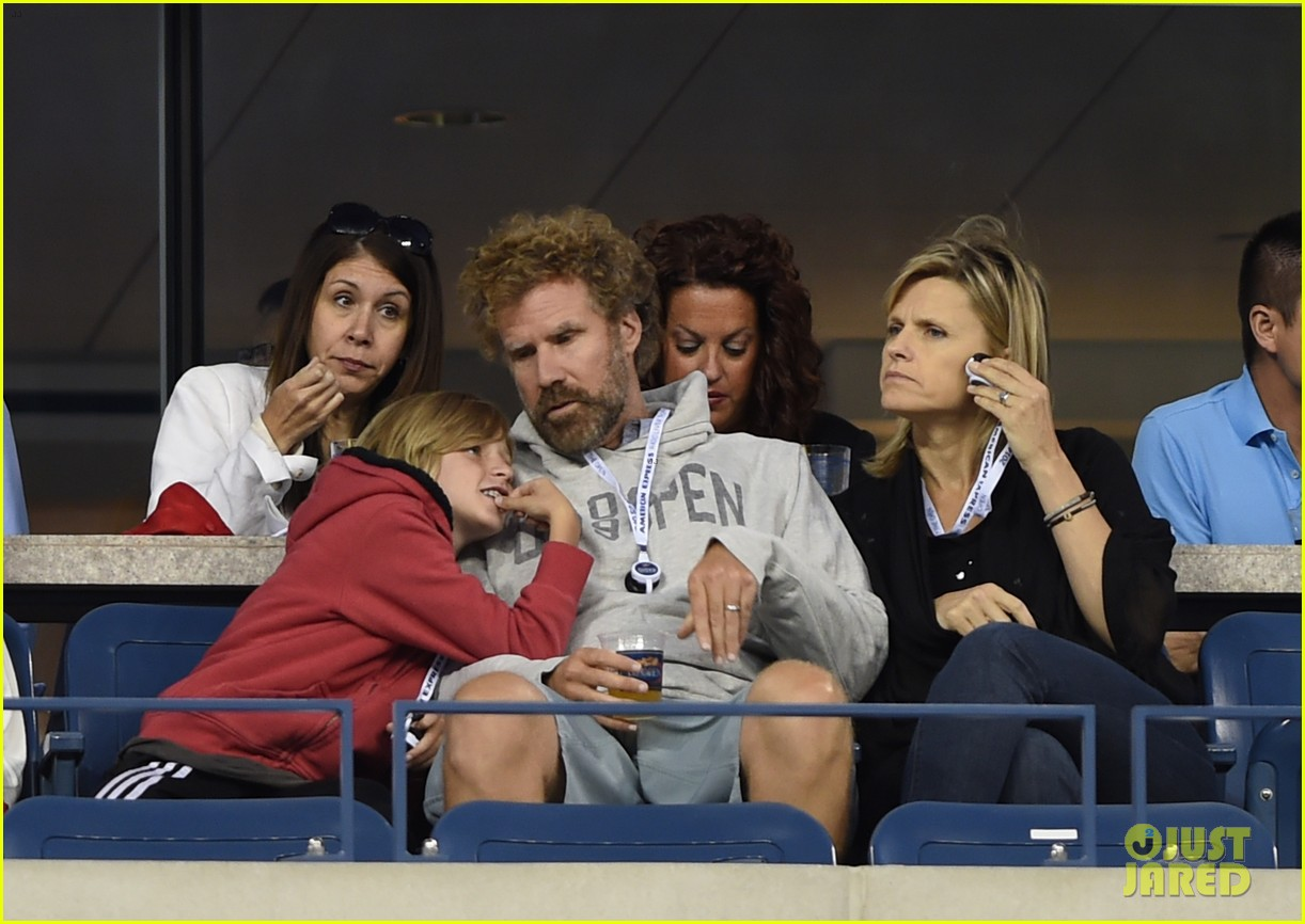 will ferrell busy beard family us open 093186687