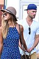 nina agdal boyfriend reid heidenry hold hands at us open 02