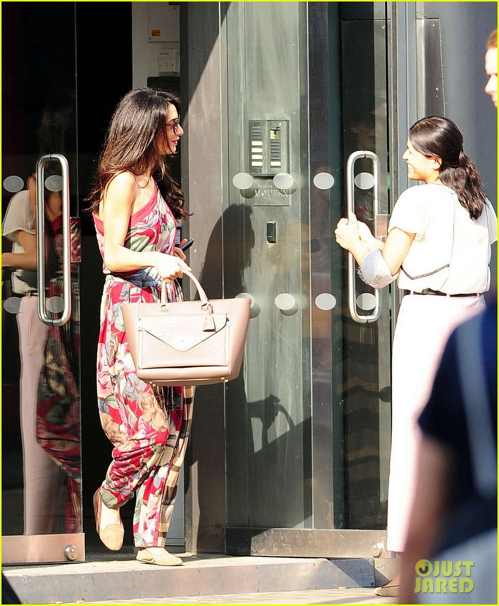 amal alamuddin goes for a fitting at alexander mcqueen 103189370