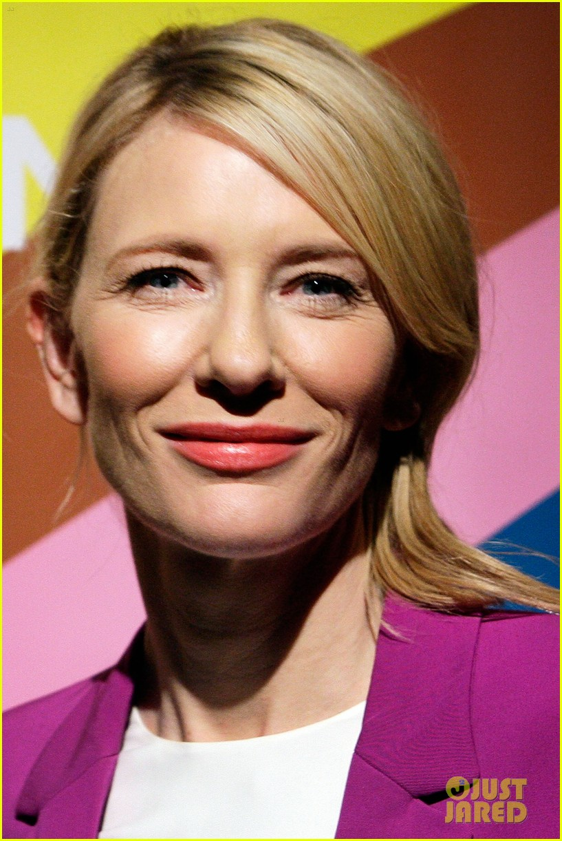 cate blanchett wears bright purple pantsuit sydney theater company 03